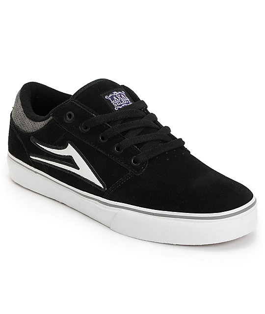 Lakai Brea Black Suede Skate Shoes