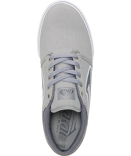 Lakai Brea Light Grey & White Canvas Skate Shoes