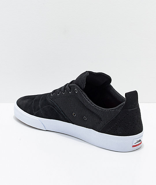 Lakai Bristol Black & White Suede Skate Shoes