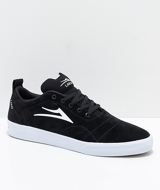 3b0ea04e541 Lakai Bristol Black   White Suede Skate Shoes