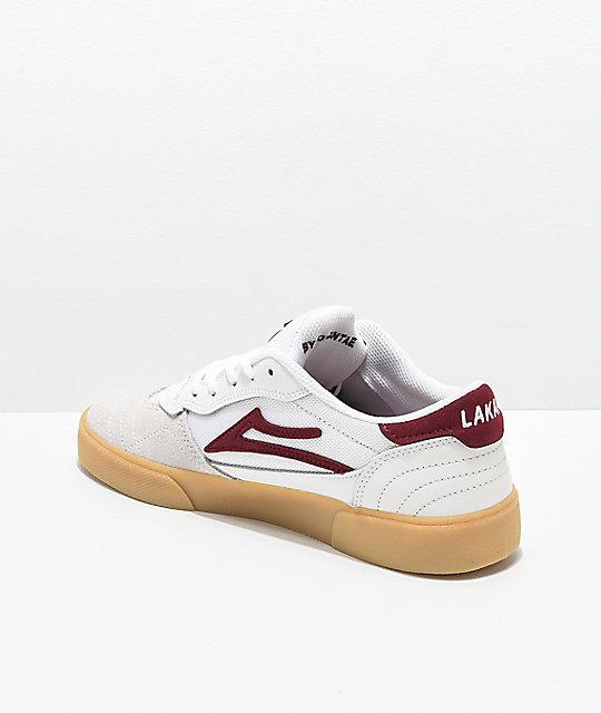skate y Lakai de Cambridge zapatos borgoños blancos qzwt1Upw