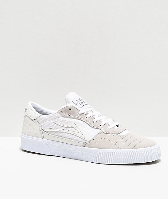 Lakai Cambridge zapatos skate de ante blanco