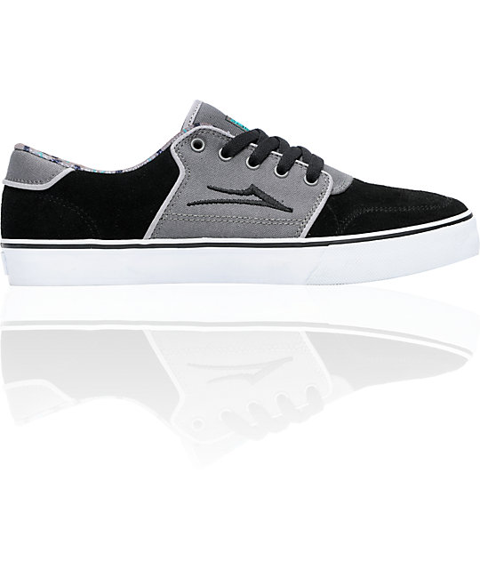 Lakai Carlo Black & Grey Suede Skate Shoes