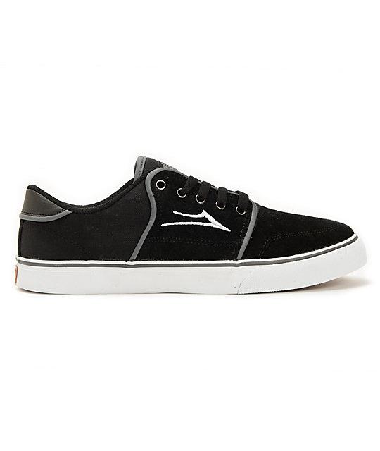 Lakai Carlo Black Suede Skate Shoes