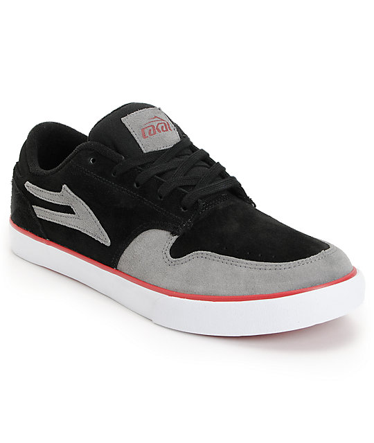 Lakai Carroll 5 Black & Grey Suede Skate Shoes