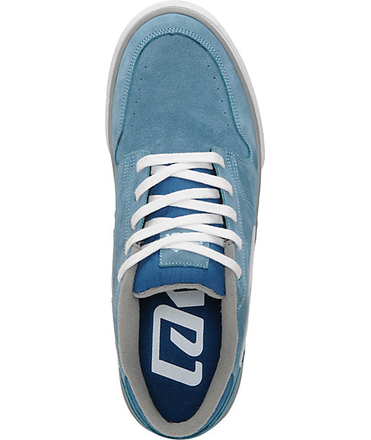 Lakai Carroll 5 Blue & Grey Suede Skate Shoes