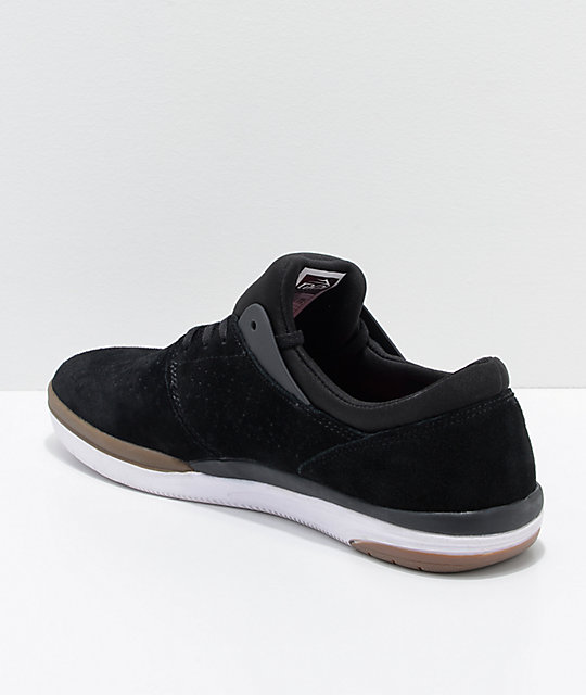 Lakai Fremont Black, Grey & Gum Suede Skate Shoes