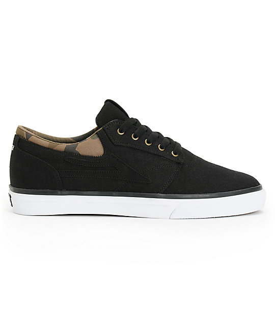 Lakai Griffin Black & Camo Canvas Skate Shoes