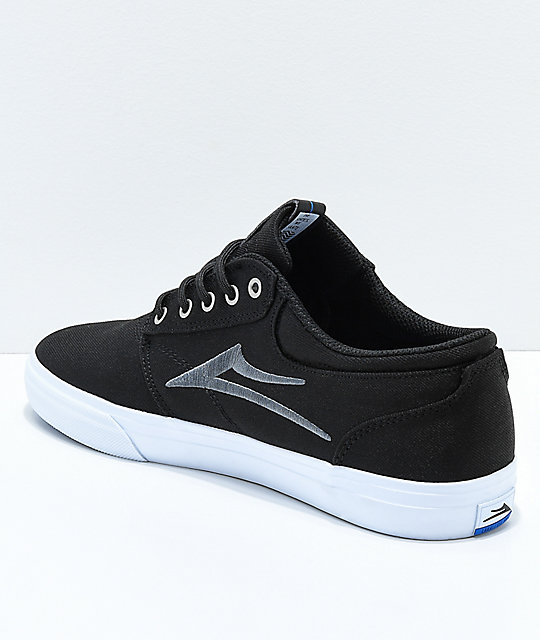 Lakai Griffin Black & White Canvas Skate Shoes