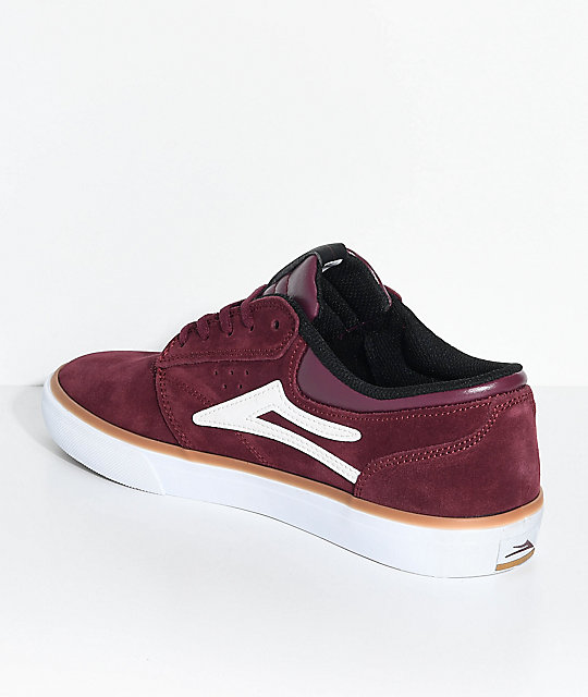 Lakai Griffin Burgundy Suede Skate Shoes