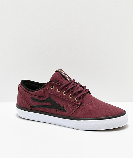 Lakai Griffin Burgundy Textile Skate Shoes