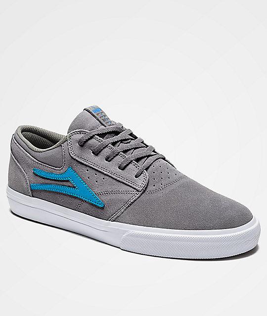 cb890c19d86 Lakai Griffin Grey   White Suede Skate Shoes
