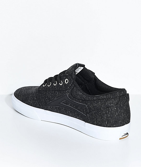 Lakai Griffin Heather Black & White Skate Shoes