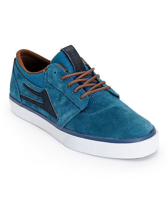 Lakai Griffin Ink Blue Suede Skate Shoes