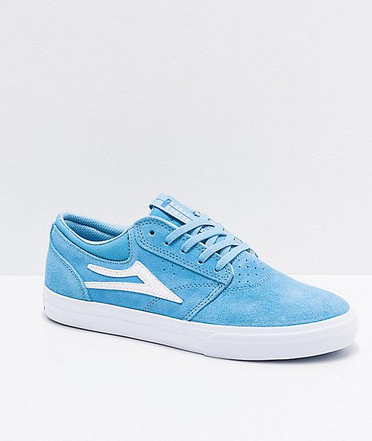d31bf8d18c3 Lakai Griffin Light Blue   White Suede Skate Shoes