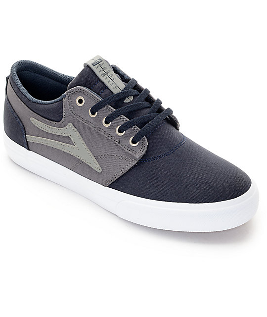 Lakai Griffin Navy & Grey Canvas Skate Shoes