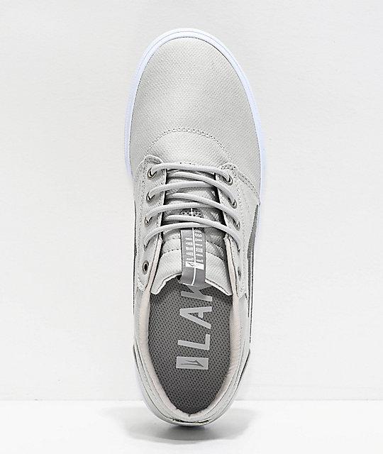 Lakai Skateboard Shoes Griffin Silver Textile