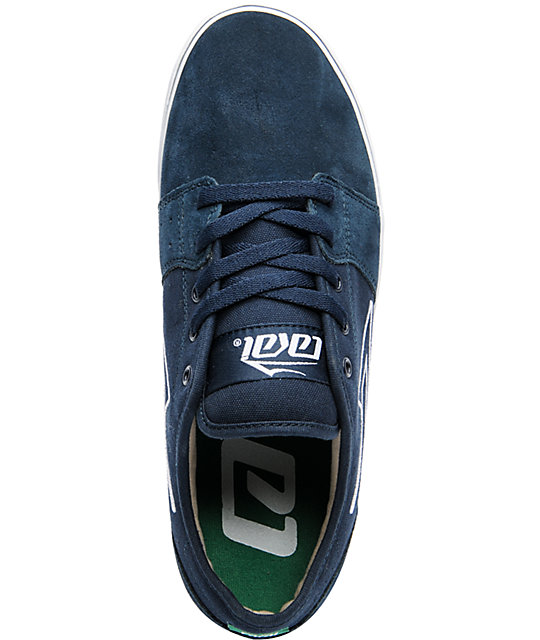 Lakai Judo Navy Blue Suede & Canvas Skate Shoes