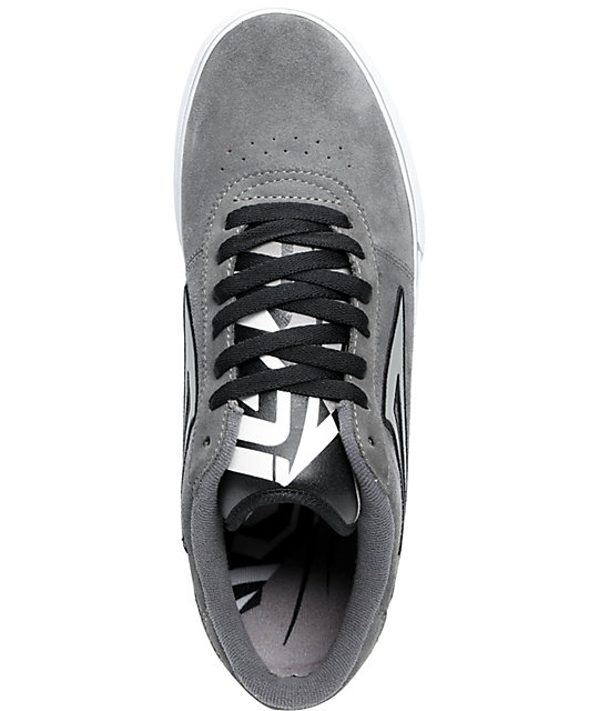 Lakai Manchester Charcoal Suede Skate Shoes