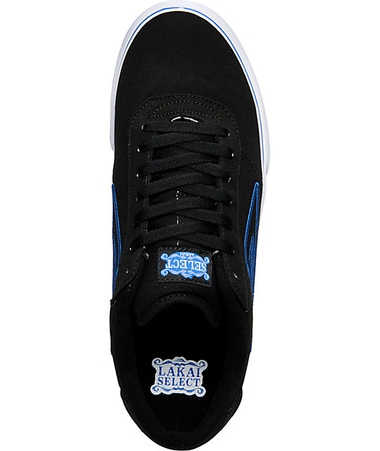 Lakai Manchester Select Black & Blue Canvas Shoes