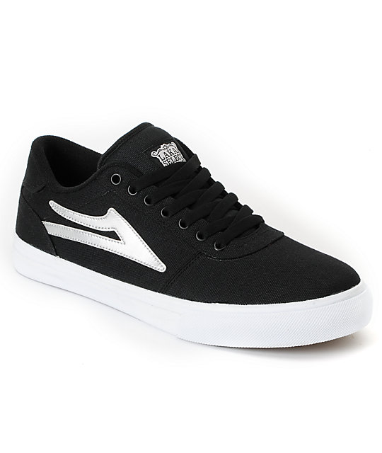 Lakai Manchester Select Black & Silver Skate Shoes