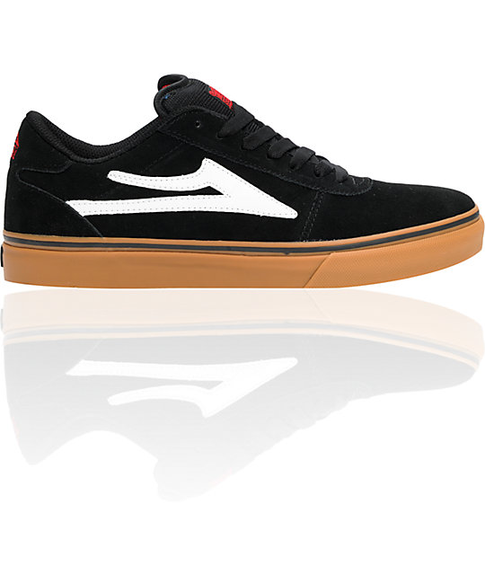 Lakai Manchester Select Black Suede & Gum Shoes