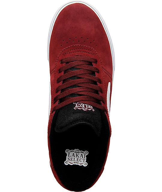 ... Lakai Manchester Select Burgundy Suede Shoes ... ef8c32e252