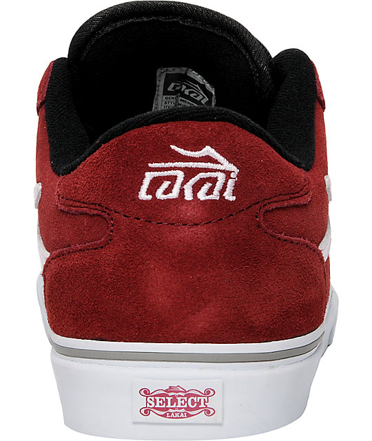 Lakai Manchester Select Burgundy Suede Shoes