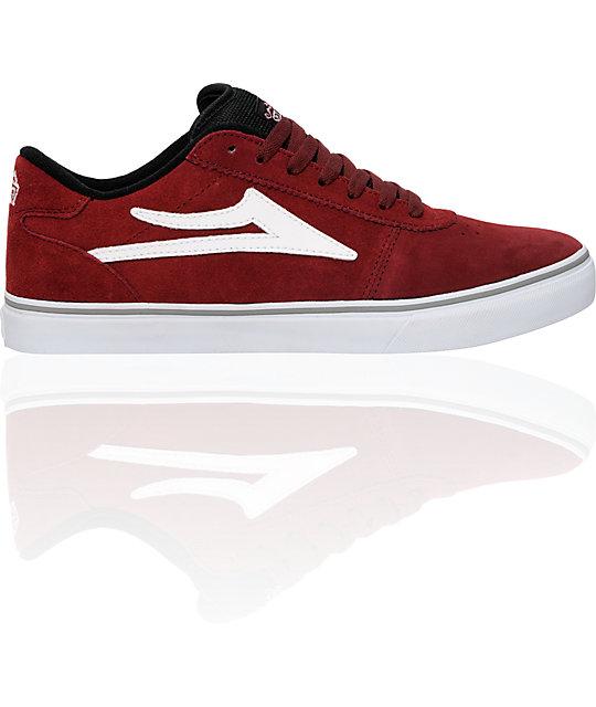 Lakai Manchester Select Burgundy Suede Shoes  1693df5b4e
