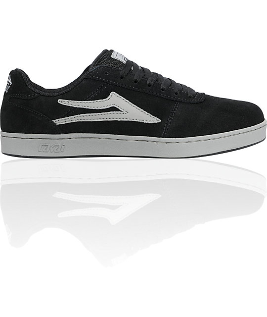 Lakai Manchester XLK Black & Grey Suede Shoes