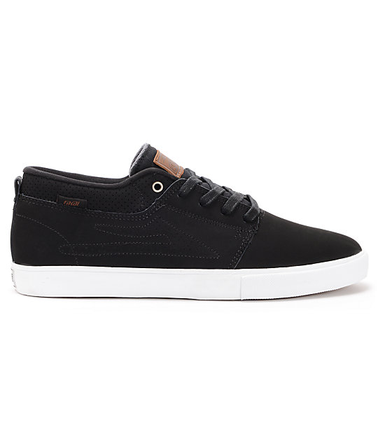 Lakai Marc Premium Black Suede Skate Shoes