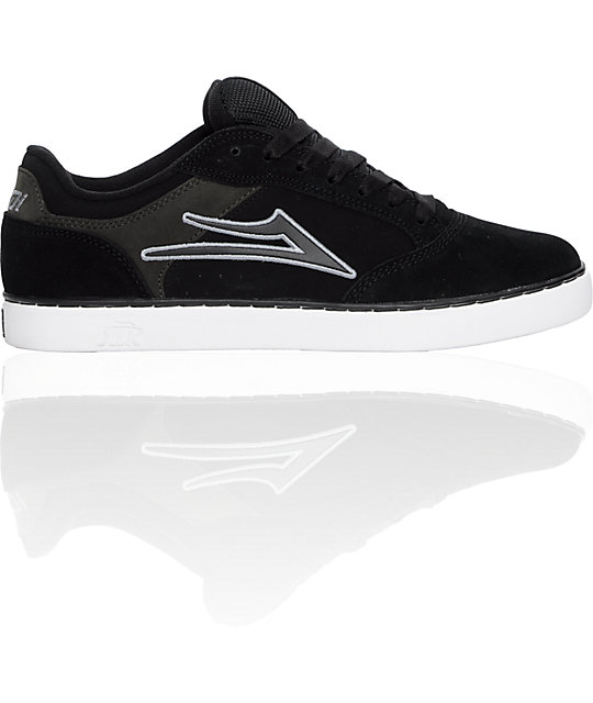 Lakai Mike Mo Black & Grey Suede Shoes
