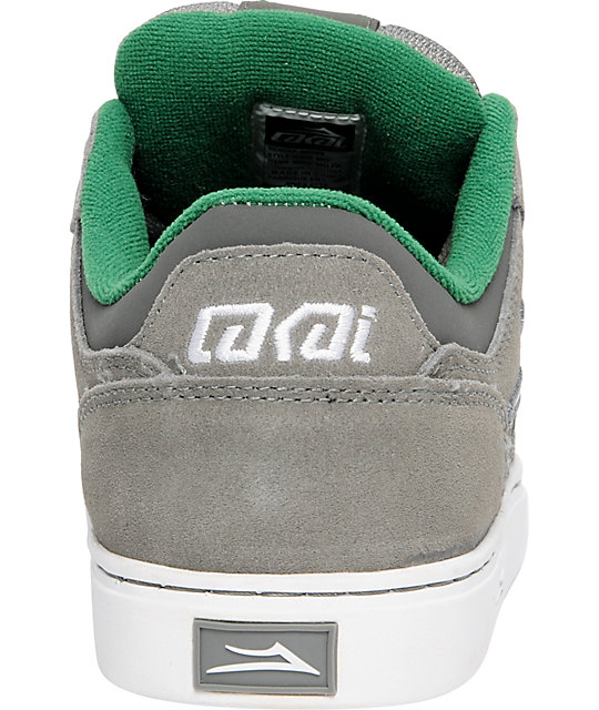 Lakai Mike Mo Grey & White Suede Shoes