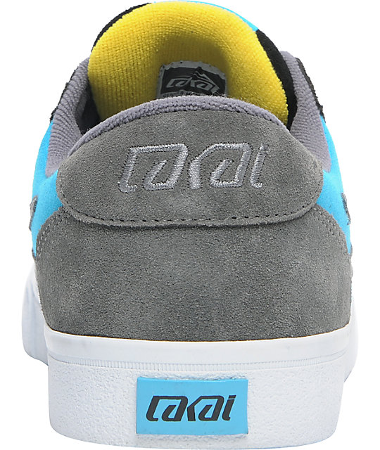 Lakai Pico Black & Cyan Suede Skate Shoes