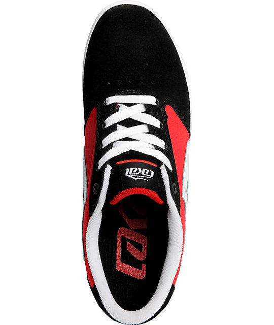 Lakai Pico Black & Red Suede Shoes