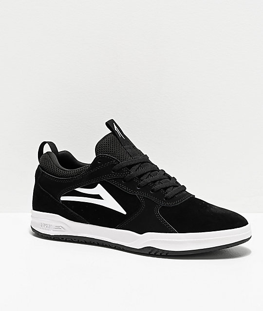 Lakai Proto Black & White Skate Shoes