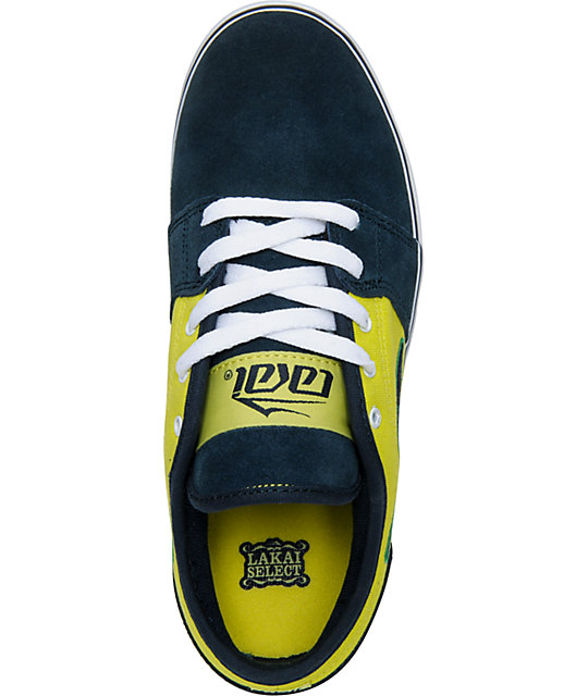 Lakai Select Boys Judo Navy & Lime Skate Shoes