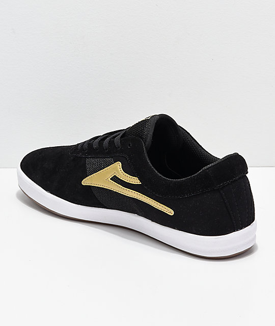 Lakai Sheffield XLK Black & Gold Suede Skate Shoes