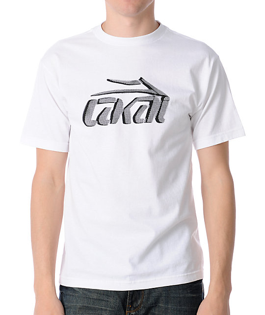 Lakai Stencil White Mens T-Shirt