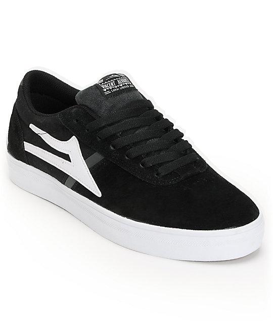 Lakai Vincent Black & White Suede Skate Shoes ...