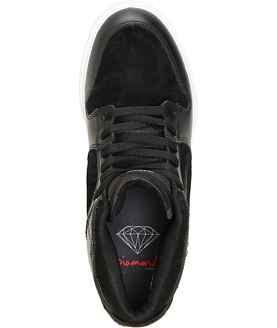 Lakai X Diamond Supply Co. Telford Black & White Skate Shoes
