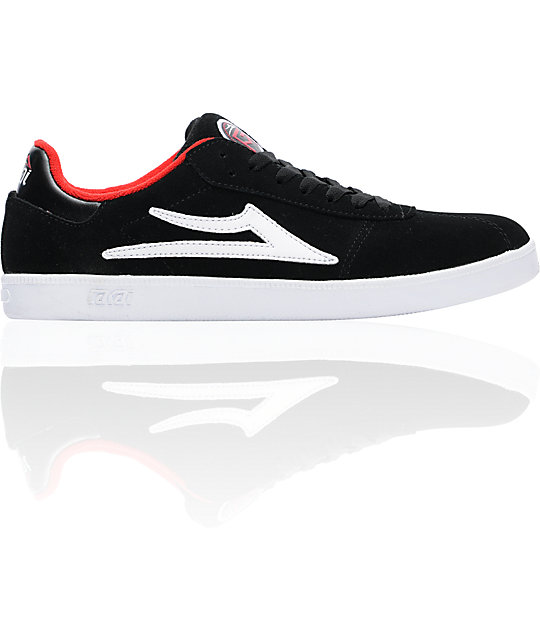 Lakai XLK Black, White & Red Skate Shoes
