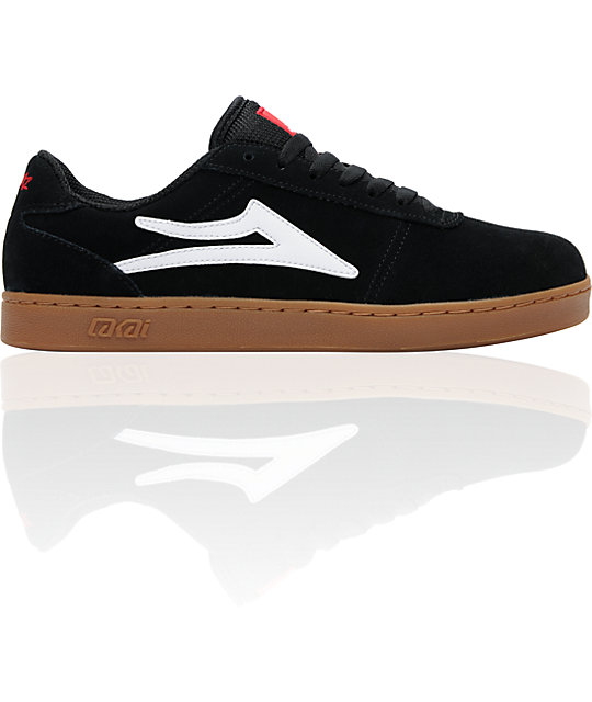 Lakai x Chocolate Manchester XLK Black & Gum Suede Skate Shoes