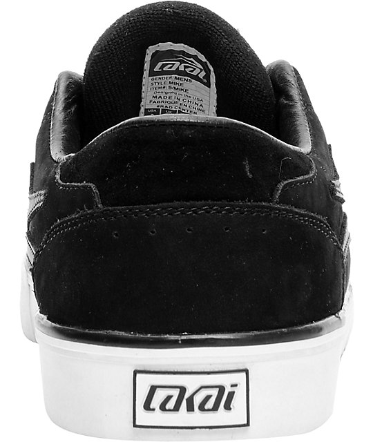 Lakai x Fourstar Carroll 5 Black Suede Skate Shoes