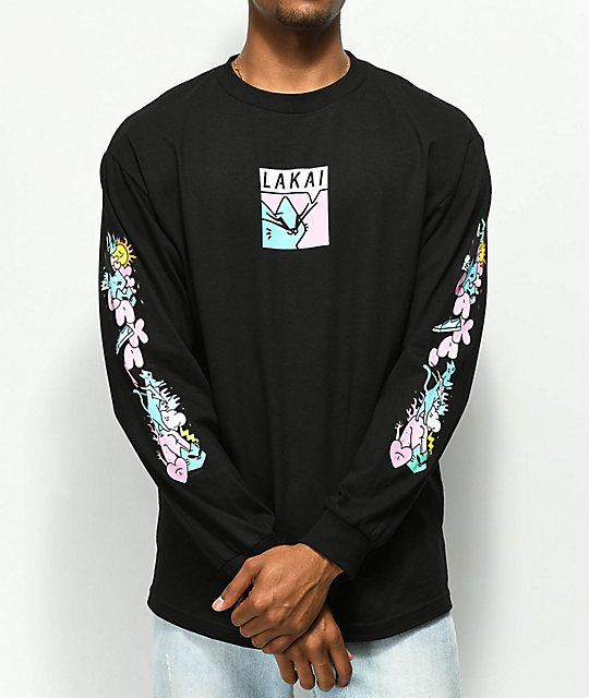 Lakai x Leon Karssen Box Black Long Sleeve T-Shirt