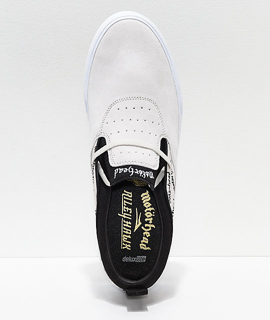 Lakai x Motorhead Riley II White & Black Skate Shoes