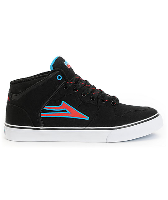Lakai x Pretty Sweet Carroll Select Mid Black & White Skate Shoes