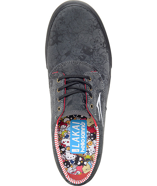 Lakai x hello sanrio Camby Black Suede Skate Shoes
