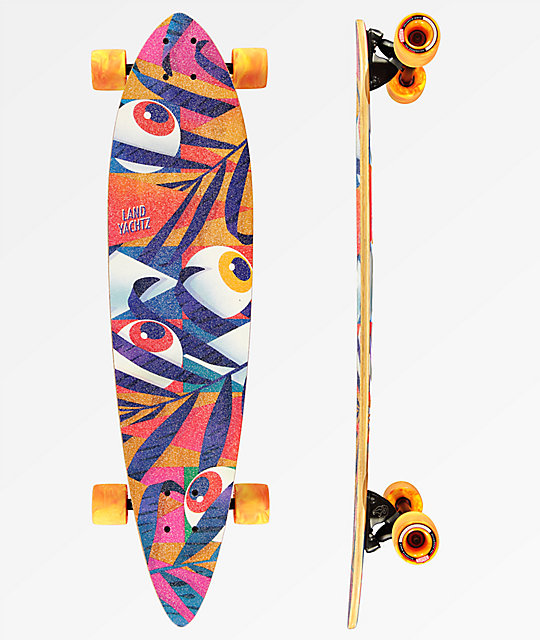 "Landyachtz Chief Eyes 36"" Bamboo Pintail Longboard Complete"