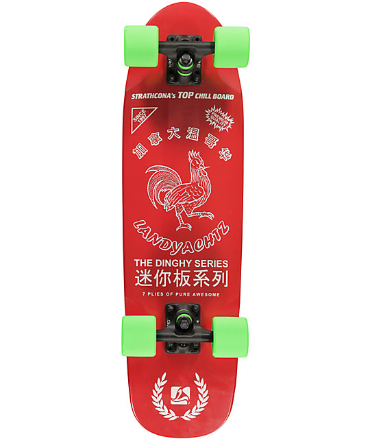 "Landyachtz Hot Sauce Dinghy 28.5""  Cruiser Complete Skateboard"